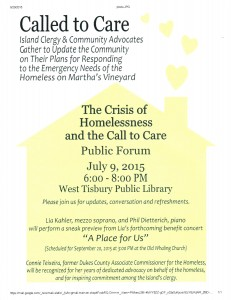 CALLED TO CARE: PUBLIC FORUM ON HOMELESSNESS