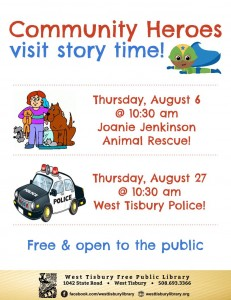 Community Heroes Visit Story Time!