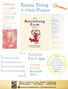 BEETLEBUNG FARM COOKBOOK BROADSIDE SHOW & COOKING DEMO