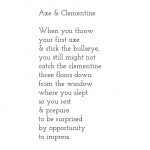 Axe & Clementine