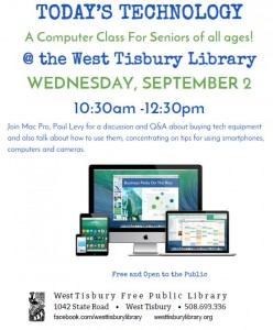 Today's Technology CLASS For Seniors of all Ages!