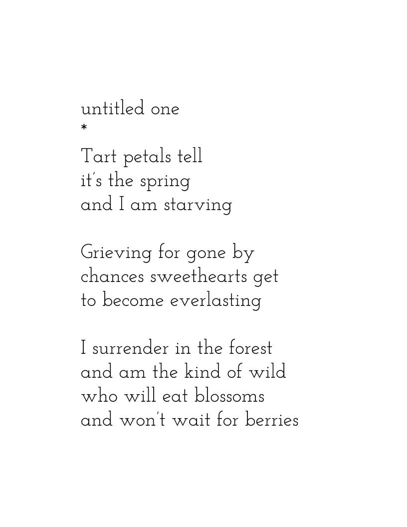 Young adult poem something is