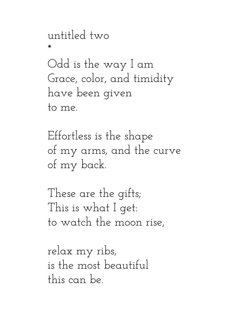 Young adult poem