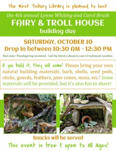 COME BUILD A FAIRY & TROLL HOUSE