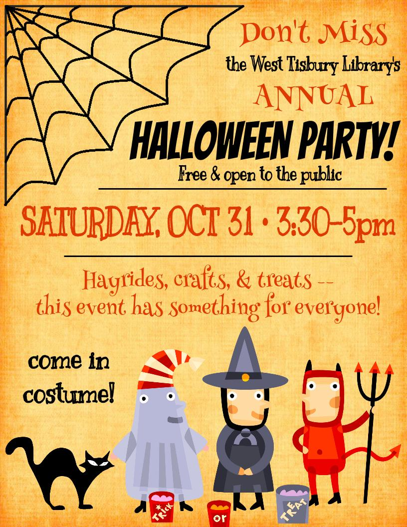 HALLOWEEN PARTY | West Tisbury Library