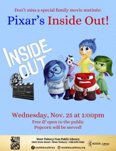 FAMILY MOVIE MATINEE: INSIDE OUT