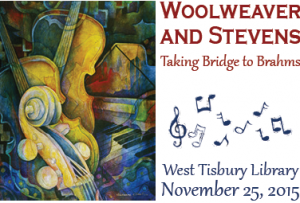 FREE RECITAL AT THE WEST TISBURY LIBRARY WITH SCOTT WOOLWEAVER AND DELORES STEVENS