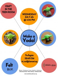 Teen/Tween Felt Workshop: Make a Yoda