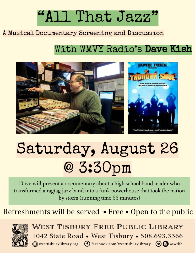 "All that Jazz"" with MVY Radio's Dave Kish 