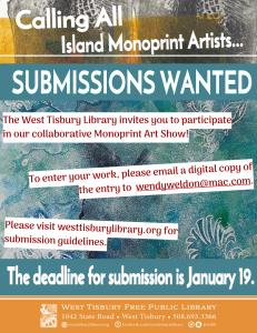 Community Monoprint Art Show and Reception
