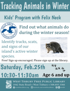 news learn track winter animals free adult education program