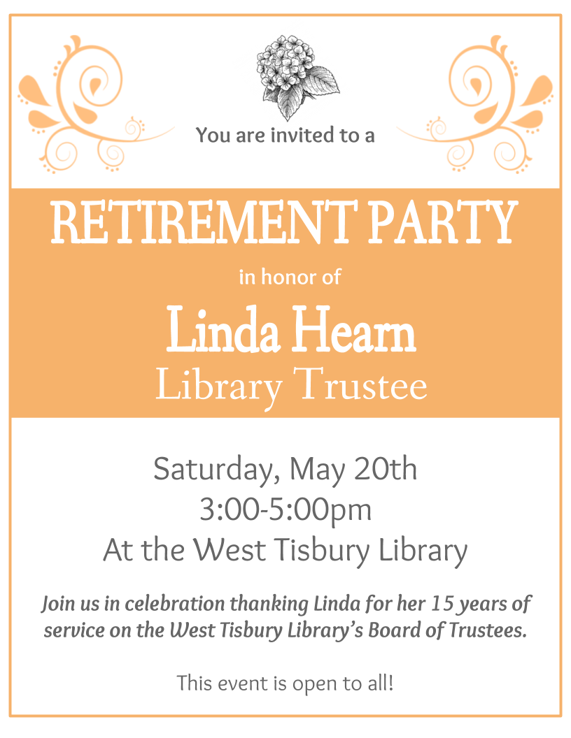 Library Trustee Retirement Party!