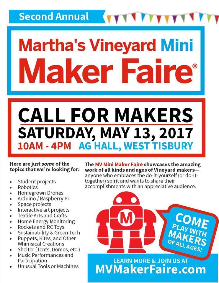 2nd Annual Mv Mini Maker Faire West Tisbury Library