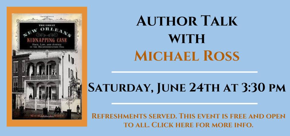 author talk Michael Ross