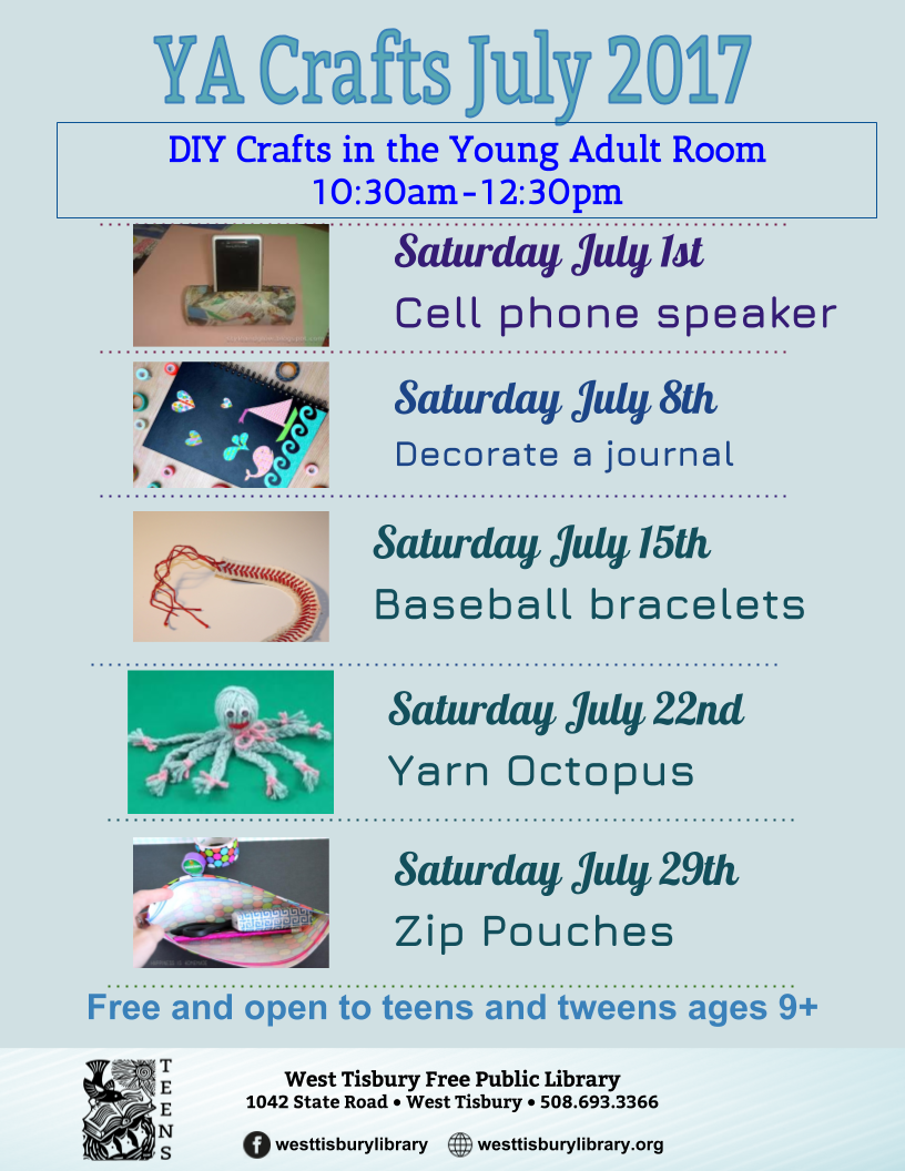 july 2017 YA DIY Crafts