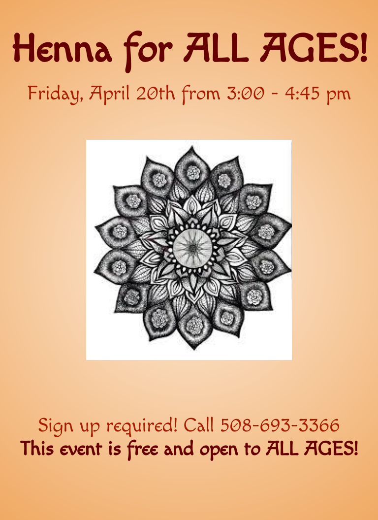 Henna For All West Tisbury Library