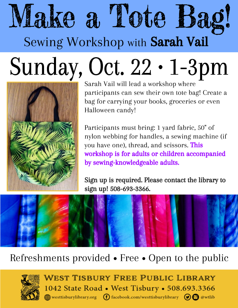 Make Your Own Tote Bag Workshop
