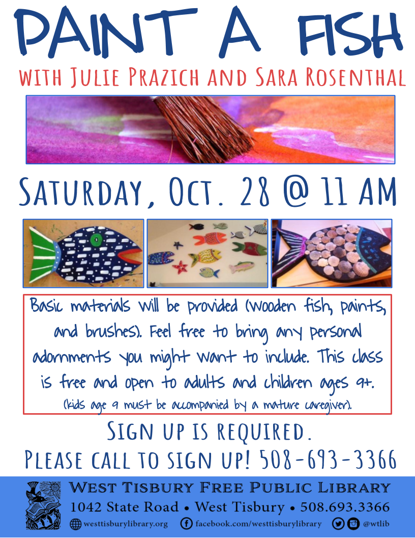 Fish Painting Workshop w/ Julie Prazich & Sara Rosenthal