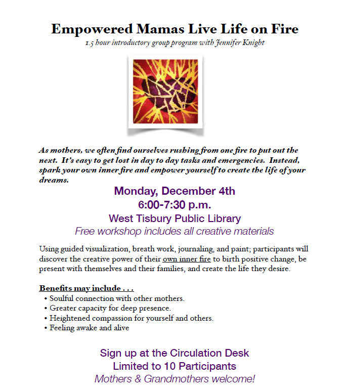 Empowered Mamas Workshop with Jennifer Knight