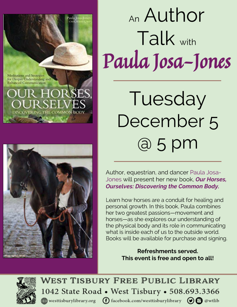 Book Talk: Our Horses, Ourselves with Paula Josa-Jones