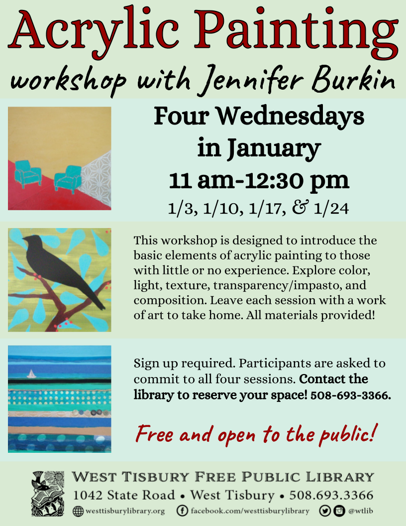 Acrylic Painting Workshop with Jennifer Burkin
