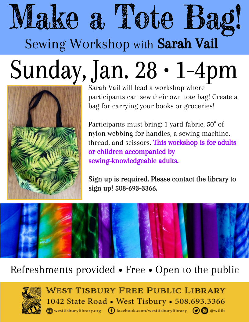 Tote Bag Sewing Workshop w/ Sarah Vail