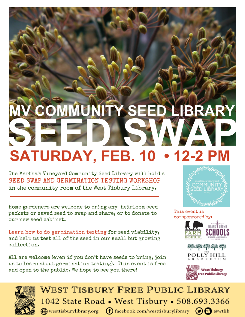 MV Community Seed Library Annual Seed Swap