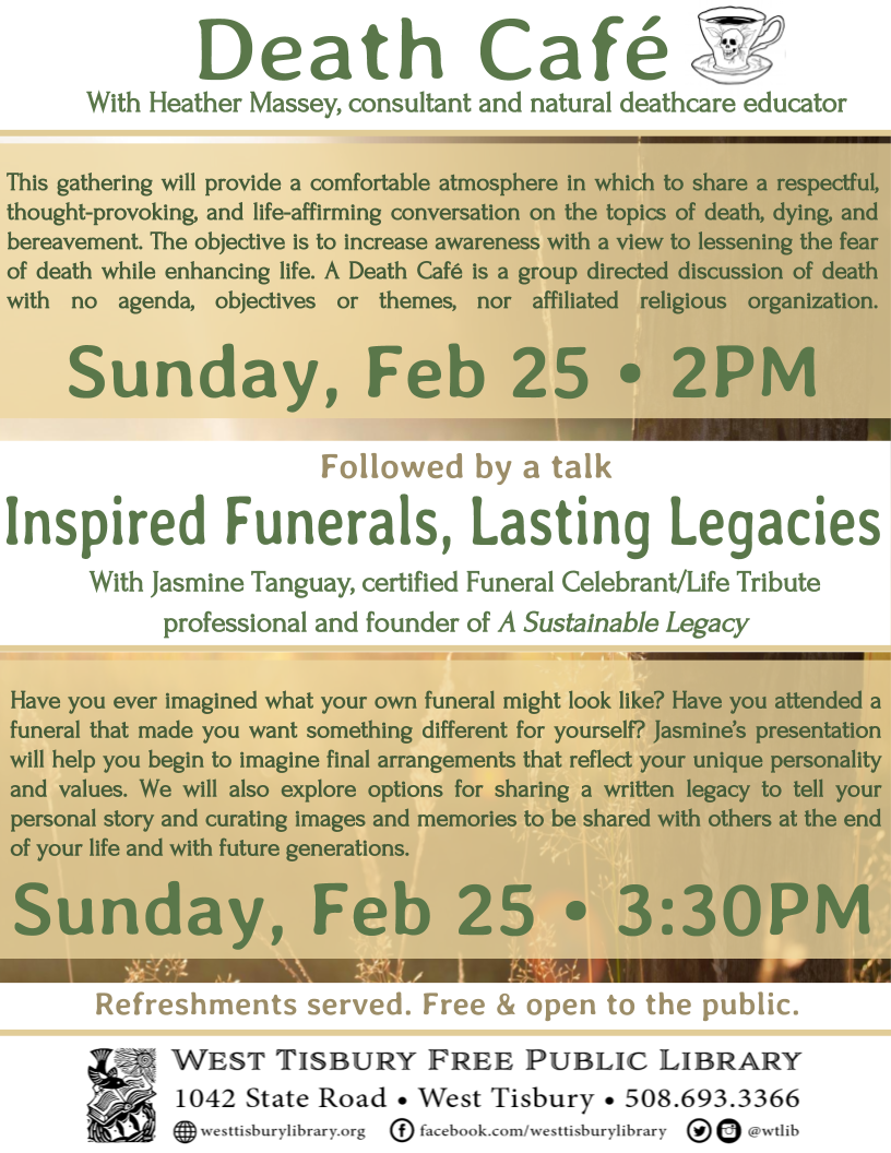 "Death Café & Presentation: ""Inspired Funerals, Lasting Legacies"""