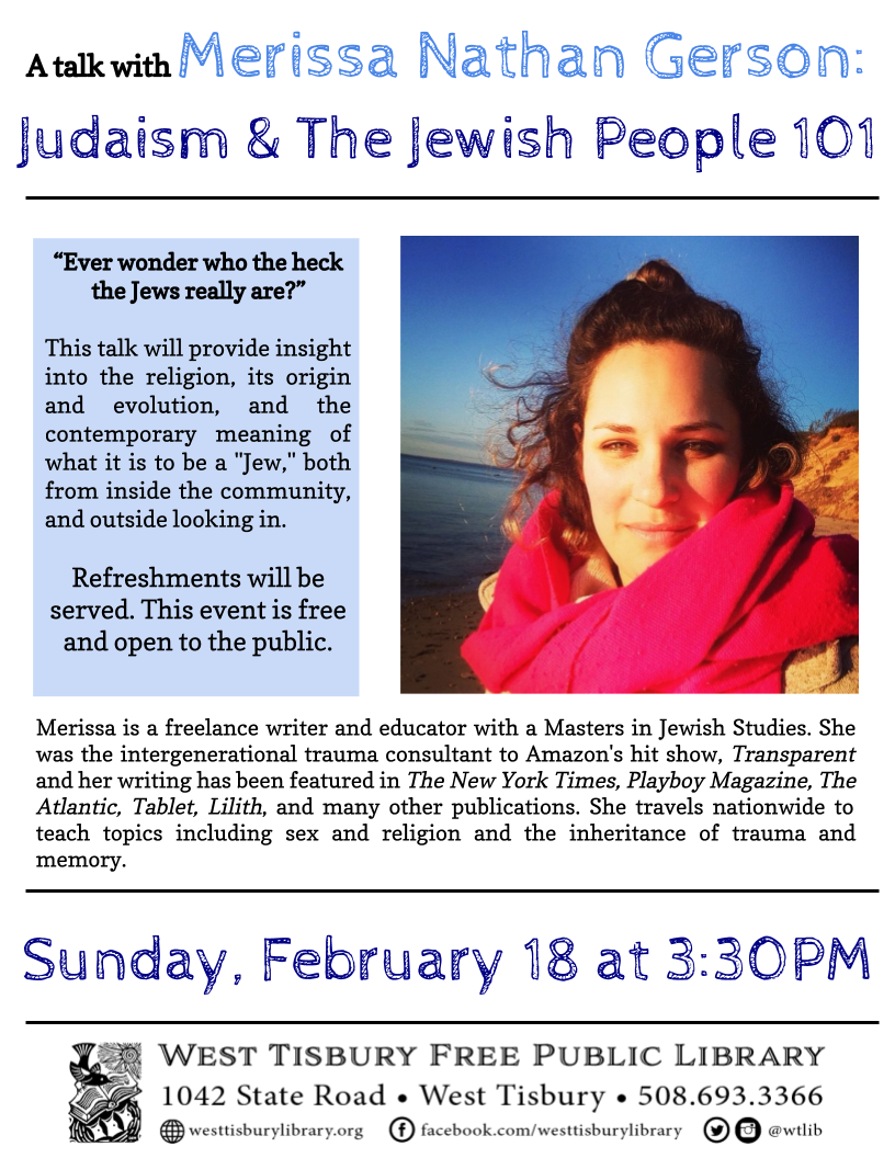 Judaism and The Jewish People 101: Talk with Merissa Gerson