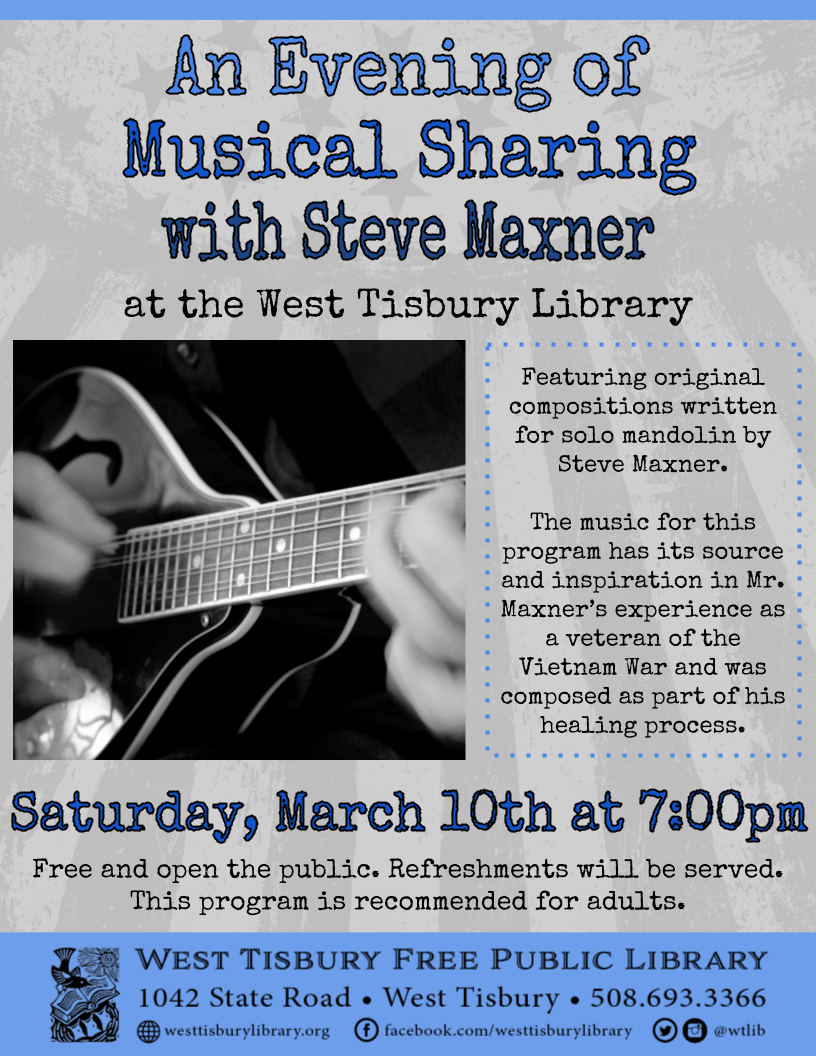 An Evening of Musical Sharing with Steve Maxner