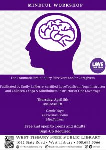Mindful Workshop:  Gentle Yoga and Discussion for Traumatic Brain Injury Survivors & Caregivers