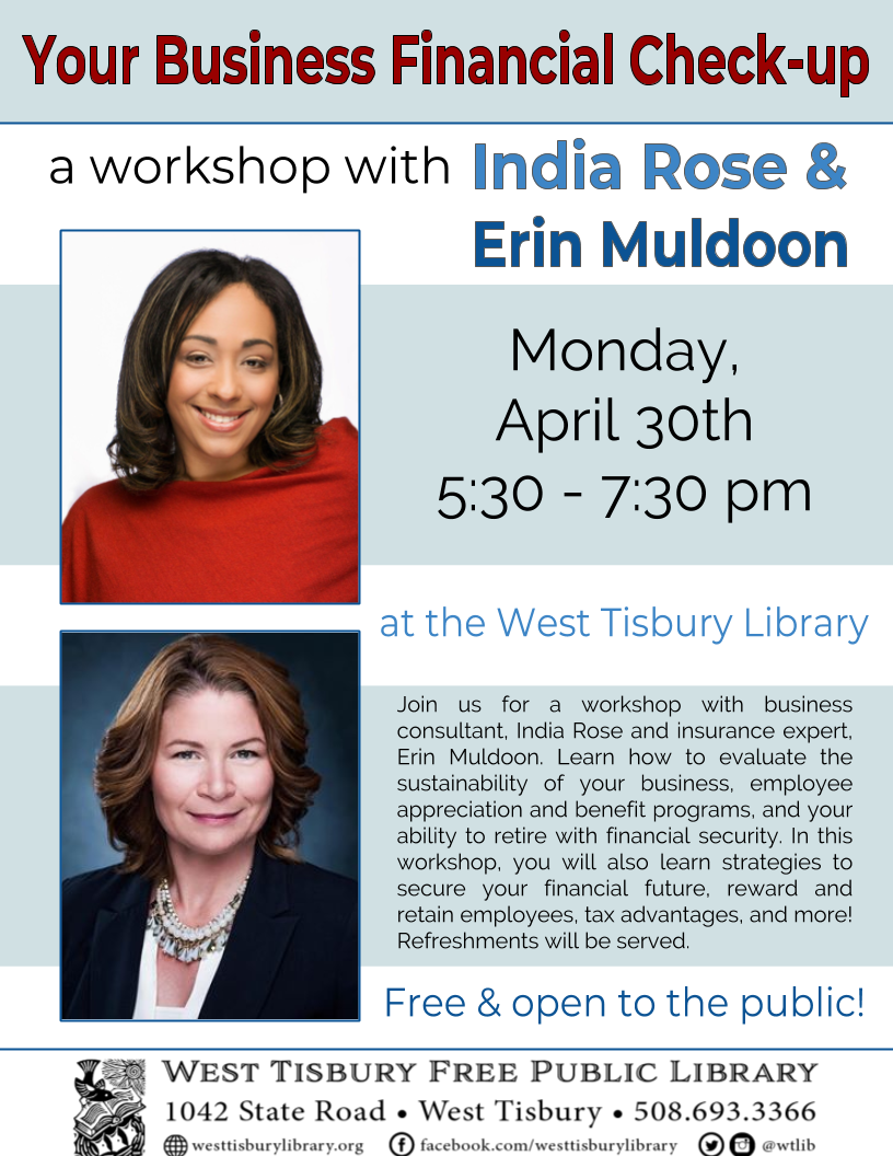 Your Business Financial Check-up: Workshop with India Rose & Erin Muldoon