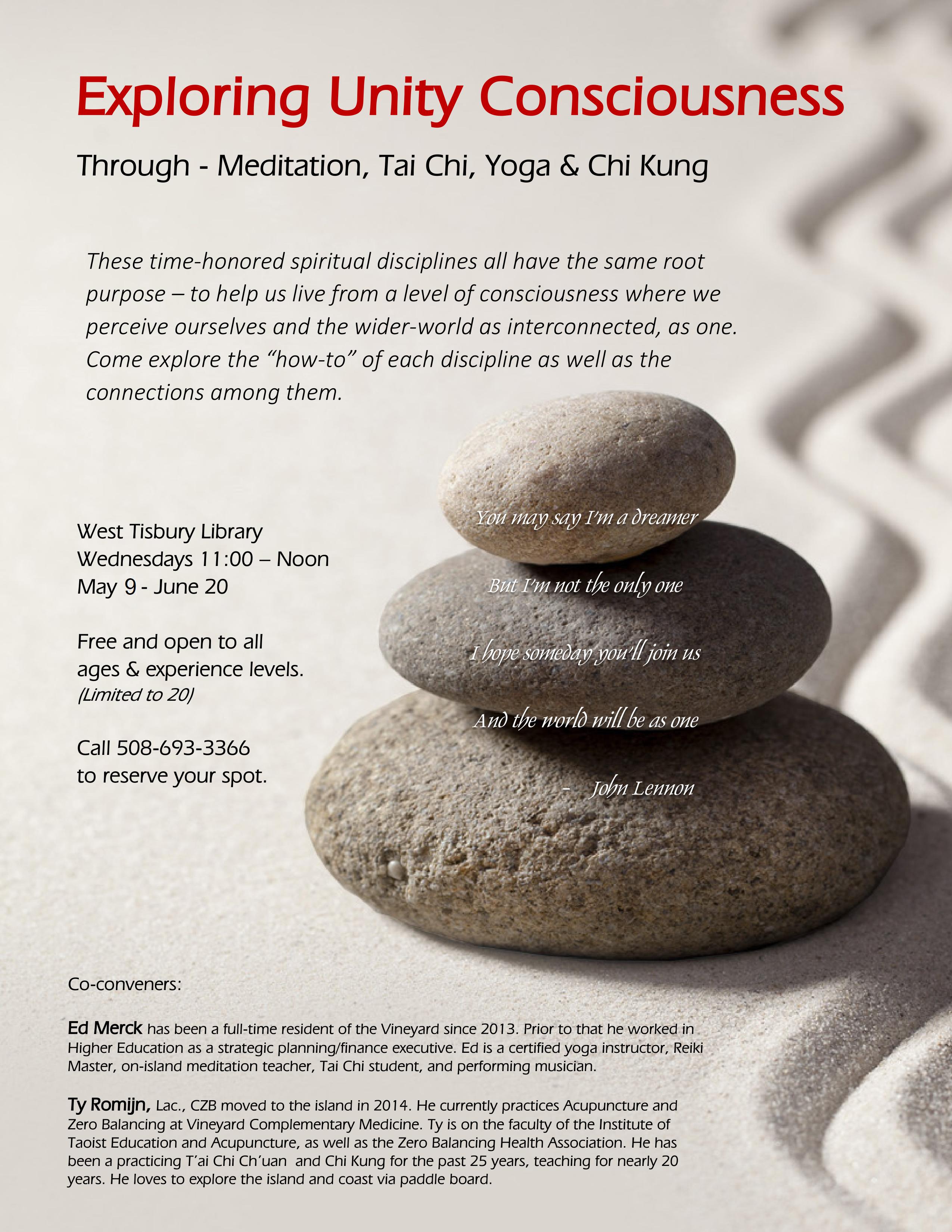 CLASS FULL! Exploring Unity Consciousness: Meditation, Tai Chi, Yoga, Chi Kung