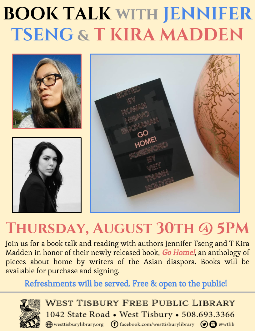 Book Talk with Jennifer Tseng & T Kira Madden