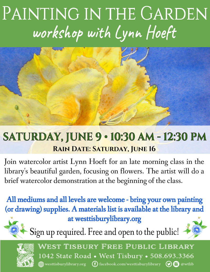 Painting In The Garden: Workshop With Lynn Hoeft