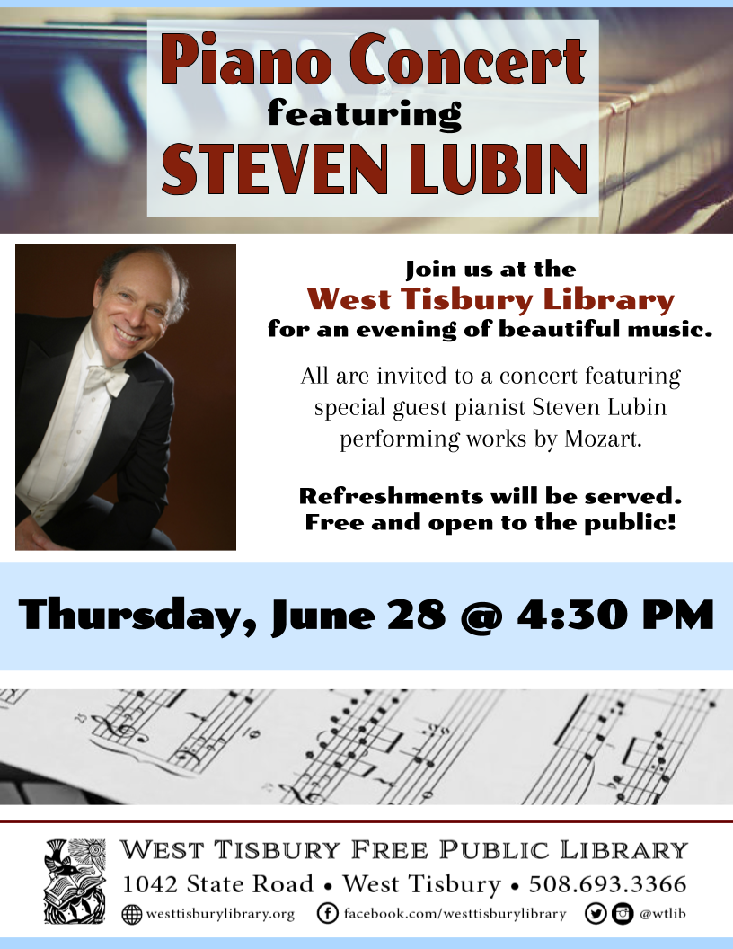 Piano Concert Featuring Steven Lubin