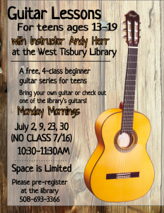 Guitar Lessons for Teens!
