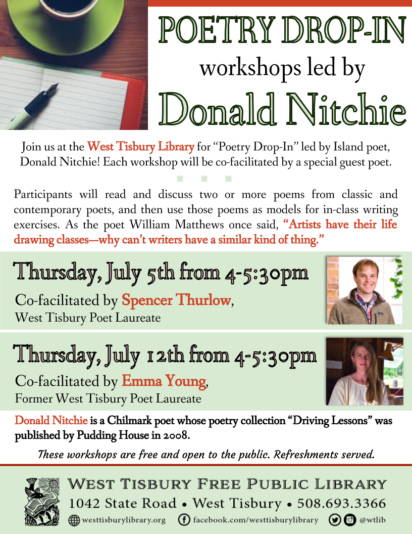 Poetry Drop-In w/ Donald Nitchie and Spencer Thurlow