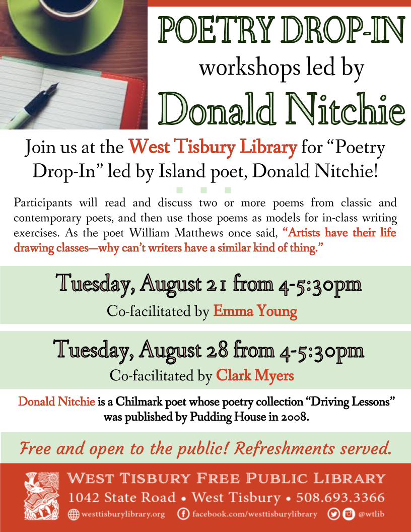 Poetry Drop-In w/ Donald Nitchie