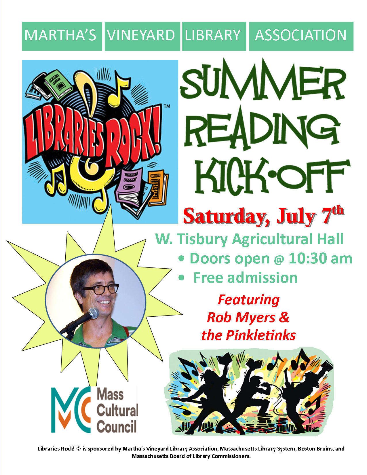 Summer Reading Kick-Off with The Pinkletinks! (at the Ag Hall)