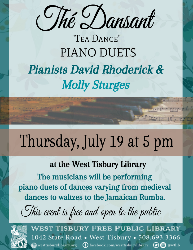 Thé Dansant: Piano Duets Featuring David Rhoderick & Molly Sturges
