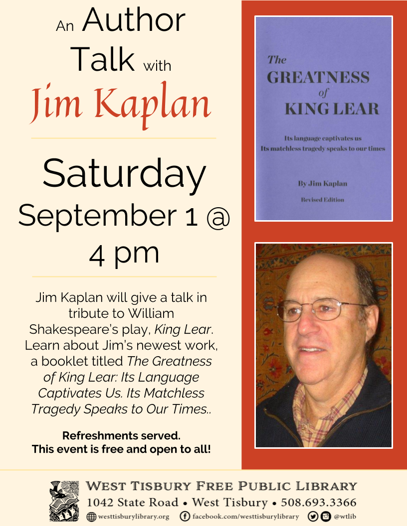 The Greatness of King Lear: A Talk with Jim Kaplan
