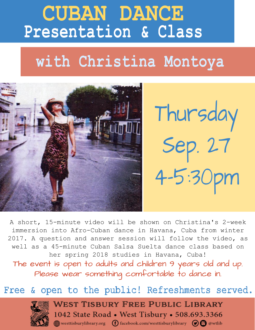 Cuban Dance with Christina Montoya