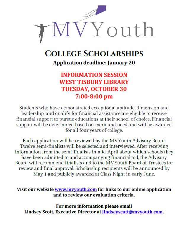MV Youth Scholarship Information Session