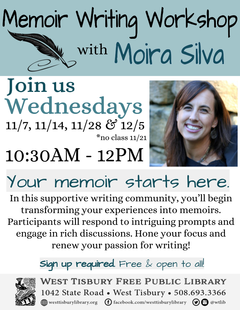 CLASS FULL! Memoir Writing Workshop