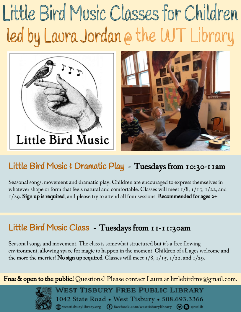 Little Bird Music & Dramatic Play for ages 2+