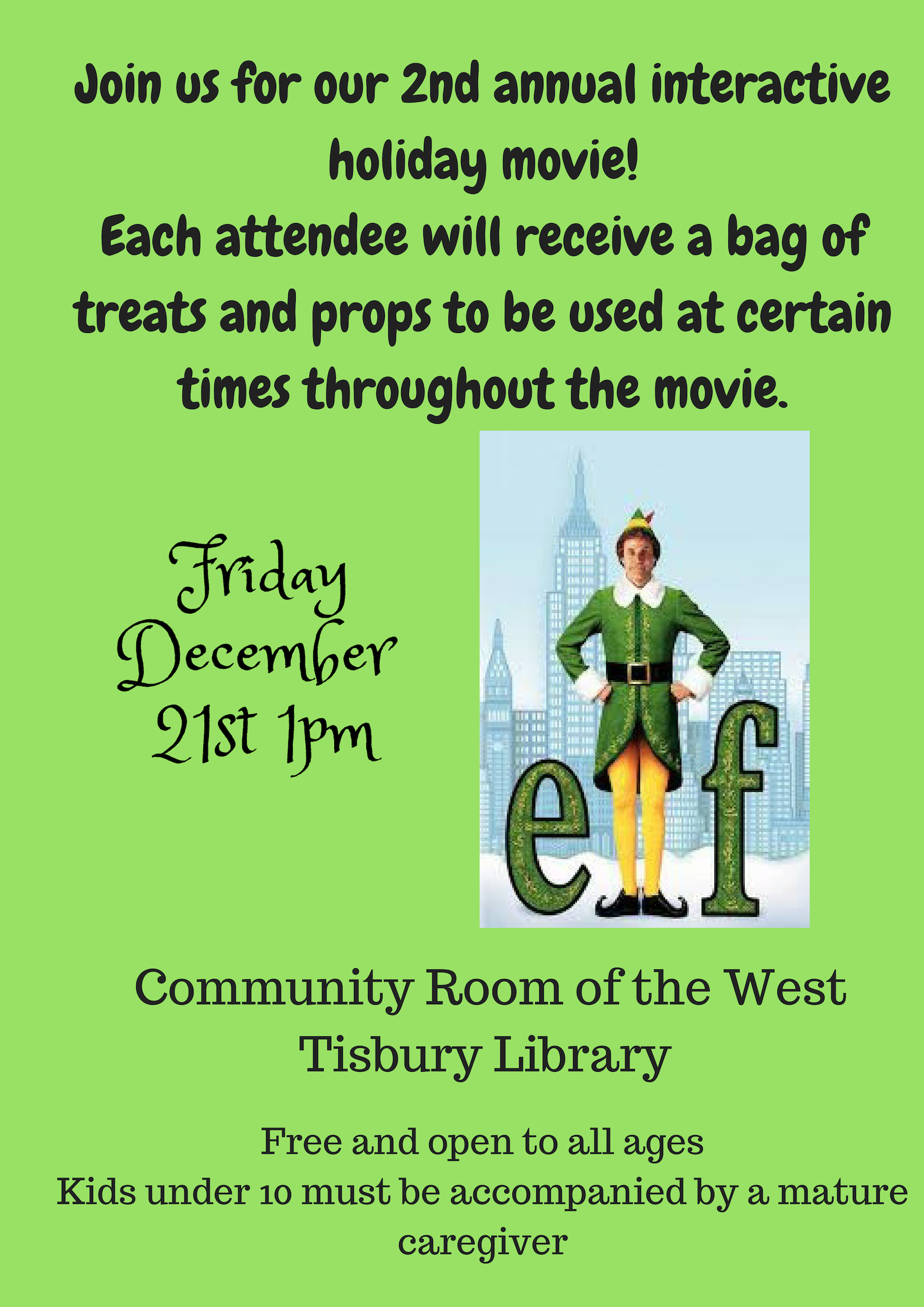 Interactive Screening of a Fun Holiday Film!