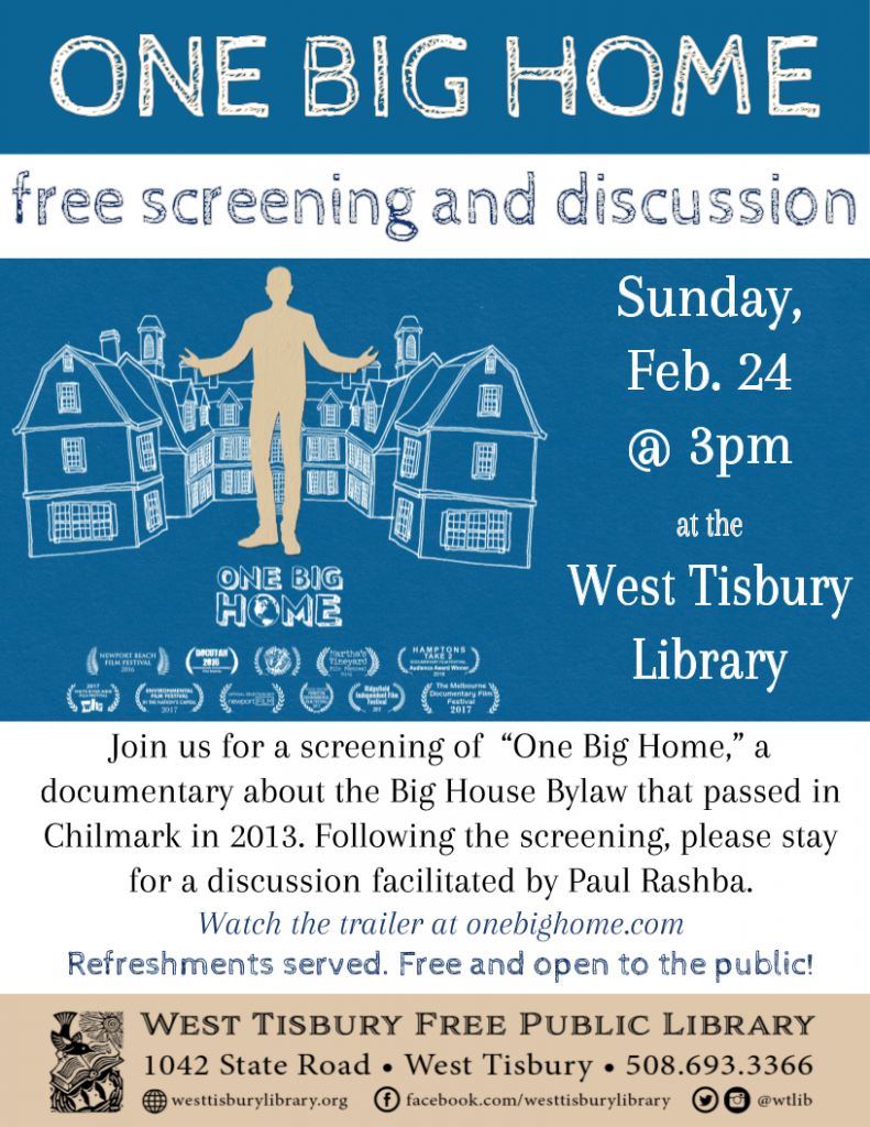 "Film Screening & Discussion: ""One Big Home"""