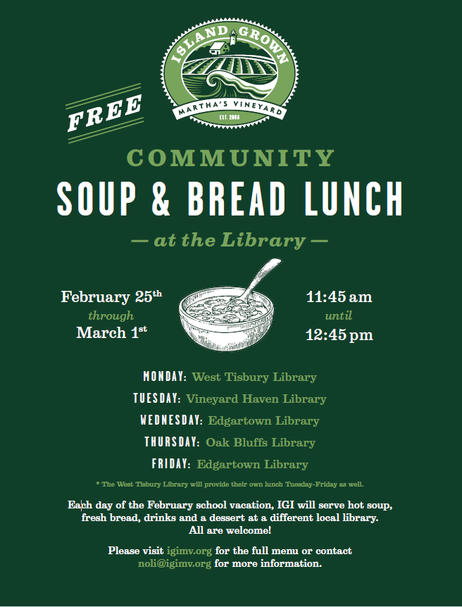 Community Soup & Bread Lunch with IGI