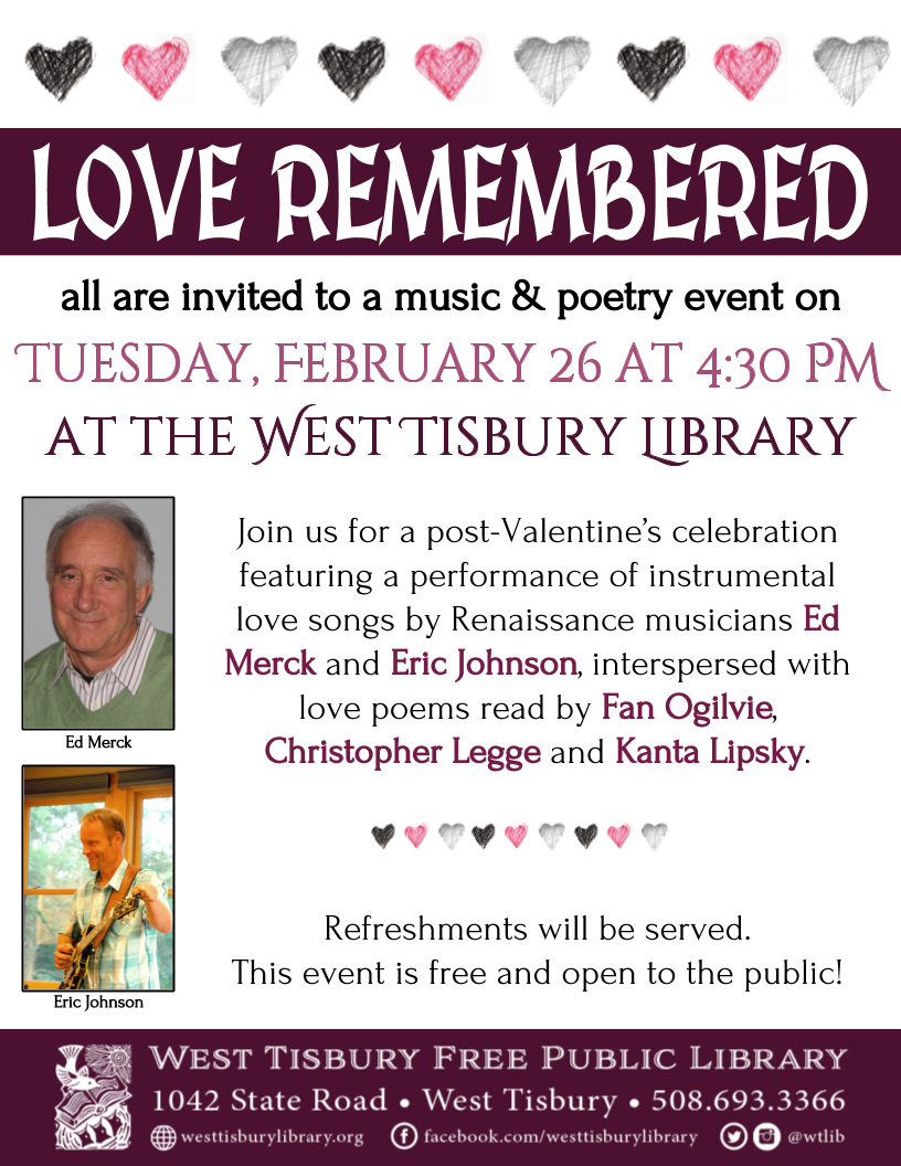Love Remembered: Music and Poetry